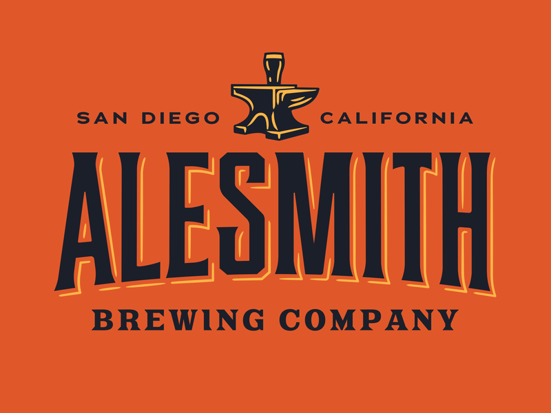 AleSmith branding identity custom type brewery anvil vintage logo system illustration icon logo rebrand craft beer beer