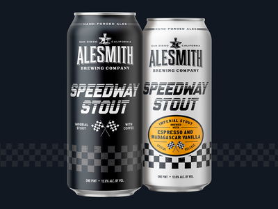 Speedway Stout design illustration packaging can grunge flags craft beer beer speedway cars racing vintage