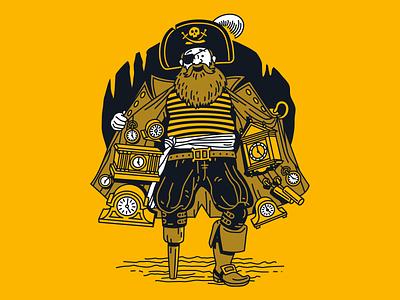 Smuggler's Hold limited release playful cave clocks pirate custom illustration can design packaging beer craft beer