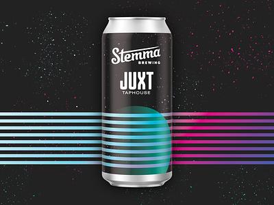CD9 Hazy IPA geometry illustration can packaging space galaxy pastel vintage 80s craft beer beer 70s design vaporwave