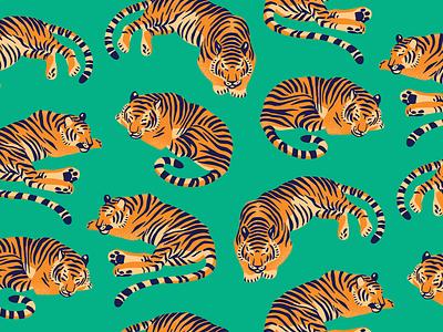 Prone Mega IPA design animal sleepy pattern tropical tiger jungle can illustration packaging craft beer beer