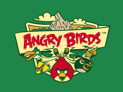 Angry Birds Licensing Art cute mountain bird cartoon design illustration angry birds video games merchandise licensing art