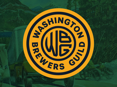 Washington Brewers Guild badge monogram vintage rebrand logo pacific northwest washington guild craft beer beer