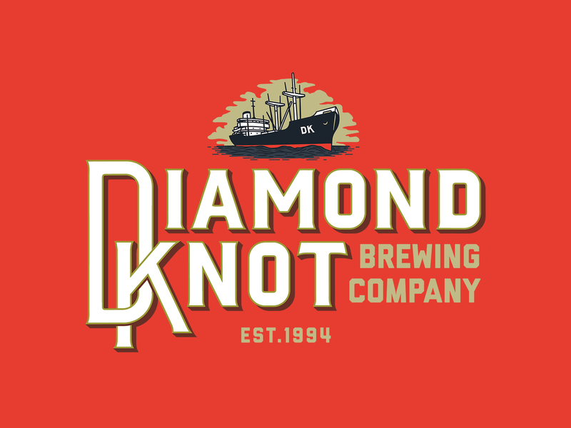 Diamond Knot Brewing Co. boat lettering industrial vintage brewery typography ocean ship redesign branding craft beer beer illustration