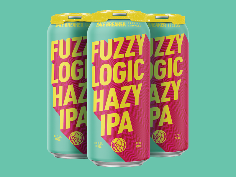 Fuzzy Logic design bright minimal geometric modern psychadelic can packaging craft beer beer