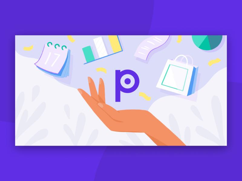 Ad Campaign purple pilot illustration