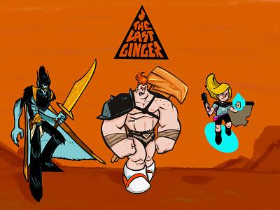 The Last Ginger Webcomic Characters barbarian cartoon webcomic illustration