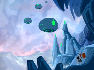 Citadel Sentries search out The Last Ginger environment painting procreate web comic speed painting illustration