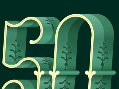 50 Wip ornate fancy texture type number numeral