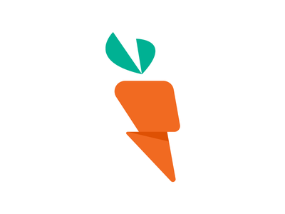 Carrot Logo flash lightning logo carrot