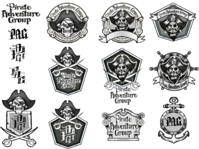 Pirate Adventure Logos WIP