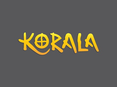 Korala Custom Logotype logo design logotype yellow custom type logo