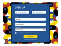 Sign Up — Daily UI #001 dailyui bauhaus web design figma sign up 001 daily ui