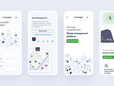 Evreka : Responsive uidesign evreka mobile ui mobile management waste illustration ux ui