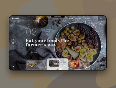 FARMD - A 'farm foods' service site design