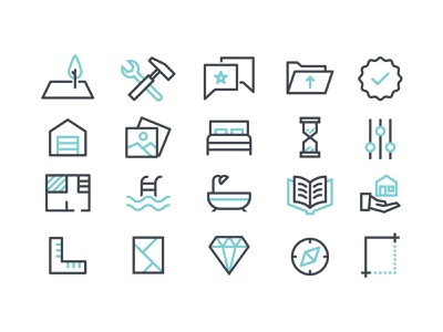 Client Icon Set illustrator flat design vector ui icon set icons icon iconography