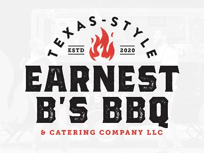 BBQ Logo vector black red logo design typogaphy illustration design branding logo