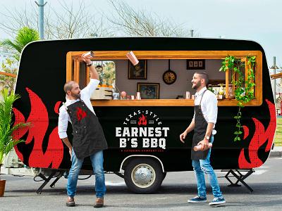 EBB Truck Concept foodie concept business brand food logo design branding red black vector