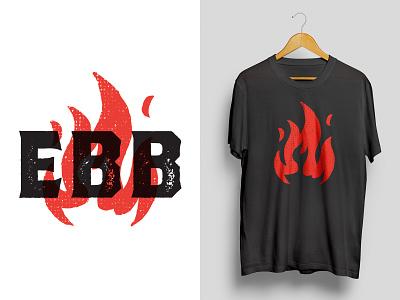EBB Mark fire vector black red logo design logo mark logomark branding design illustration t-shirt