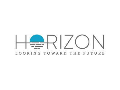 Horizon Logo circle design illustrator branding ocean water sun vector logo