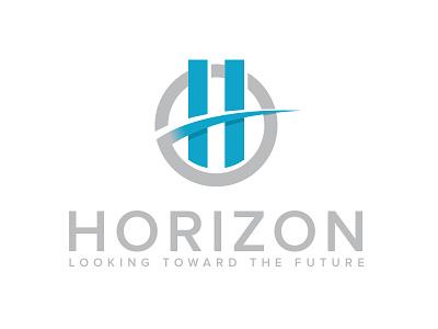 Horizon Logo V2 shadow horizon h design branding illustrator circle vector logo