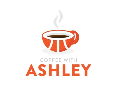 Coffee With Ashley sports steam coffee radio show basketball logo