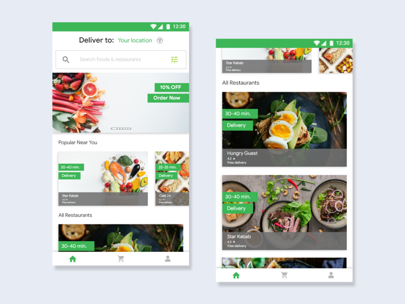 Mobile App -  Fooding