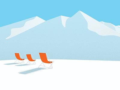 Winter chill print background vector minimalist clean digital flat illustration