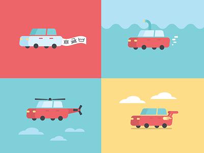 Car icons car illustrator cc icon flat vector digital illustration