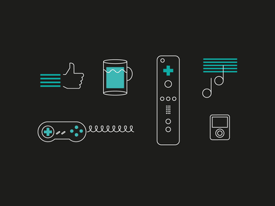 Icons Chili games technology abstract icon vector digital illustration
