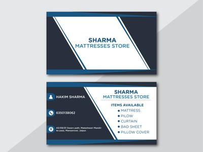 BUSINESS CARD FOR SHARMA MATTRESSES STORE