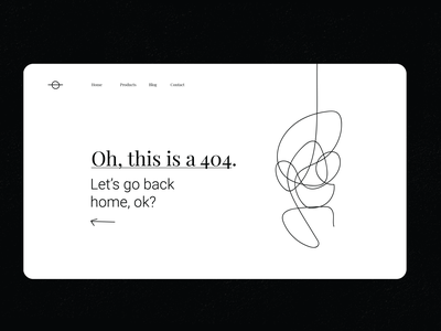 Minimal 404 / Daily UI Challenge black and white line minimalistic 404 404 error page 404page uidesign ui
