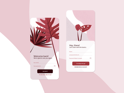 Sign In - Sign Up / Daily UI Challenge sign up sign in ui design uidesign