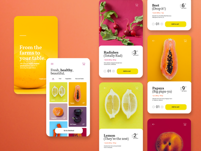 Organic Market App food ecommerce app ecommerce mobile app shopping app product page product screen ui  ux uidesign