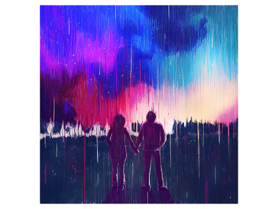Together cover art lights space cover music lines sky illustration artwork