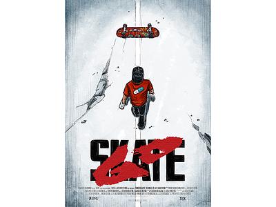 GO SKATE × アキラ film poster movie poster akira drawing illustration poster artwork sk8 gsd skateboarding skateboard skate