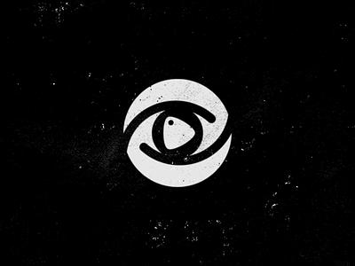 cmotpu logo monochrome video eye play symbol icon logo design logotype logo