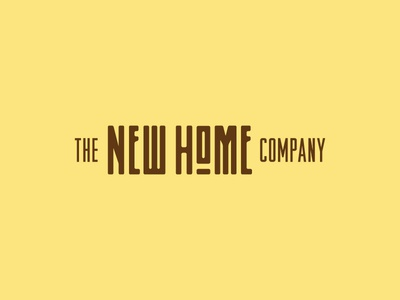 The New Home Co. home construction craft typography identity branding logo