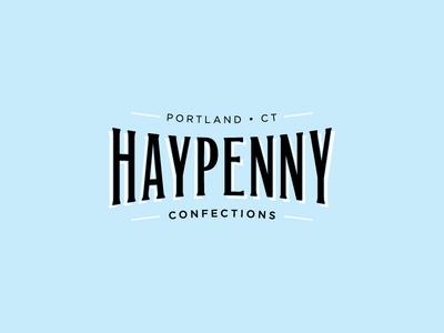 Haypenny marshmallow bakery vintage typography identity branding logo