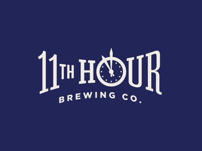 11th Hour Brewing Co. Part 1 time clock brewing beer lettering typography identity branding logo