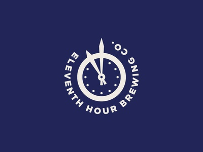 11th Hour Brewing Co. Part 2 time clock brewing beer lettering typography identity branding logo