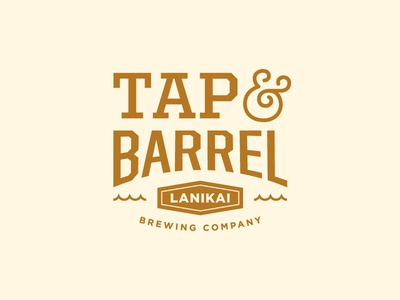 Tap & Barrel pub brewing beer typography identity branding logo
