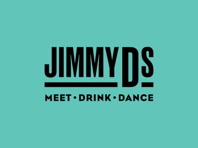 Jimmy D's Pt. 2 dance lounge bar lettering typography identity branding logo