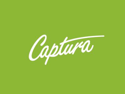 Captura photography marker script typography identity branding logo