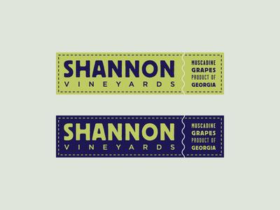 Shannon Vineyards tag grape wine vineyard typography identity branding logo