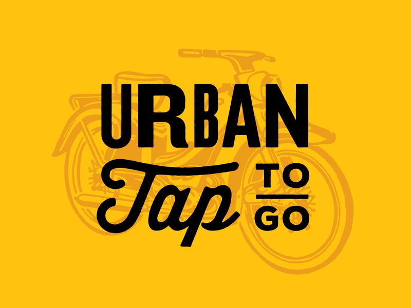 Urban Tap To-Go Logo vintage illusration lettering typography motorcylce bar beer brand