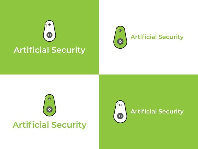 Aritificial Security Cyber Cam  Minimalistic Logo