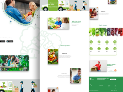 Grocery Store Fruits and vegetable landing page.