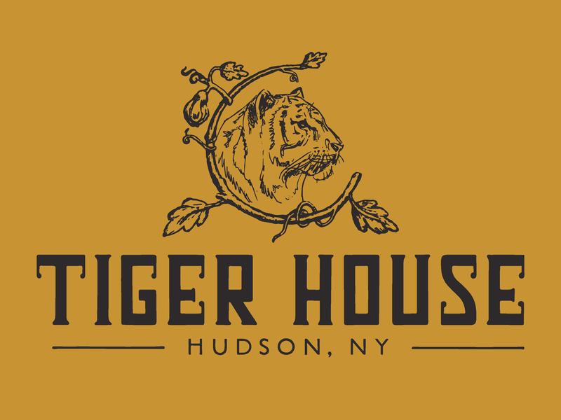 Tiger House hospitality illustration logo design custom lettering identity design brand identity branding logo handlettering branding agency