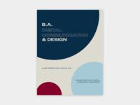 digital comms brochure brochure layout design minimalism minimalist portfolio brochure design